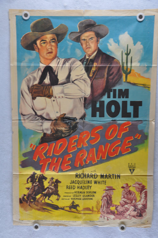 1950 Riders of the Range Original 1SH Movie Poster Tim Holt, Richard Martin   - TvMovieCards.com