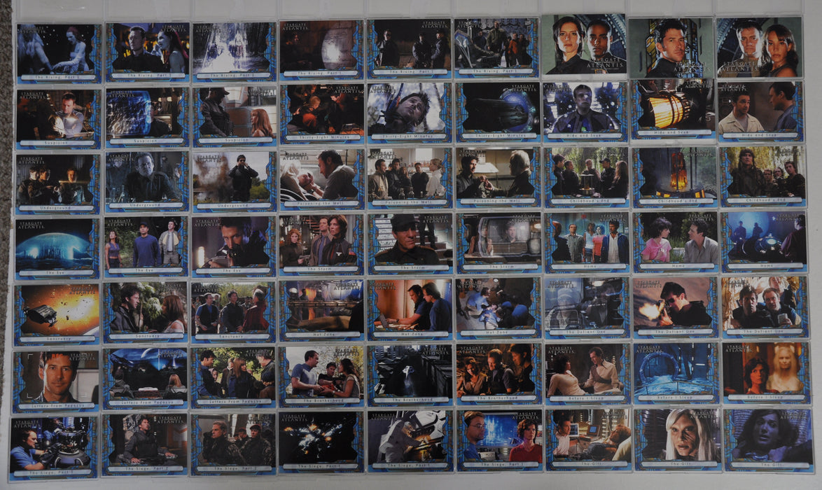 2005 Stargate Atlantis Season One Trading Card Base Set 63 Card Set   - TvMovieCards.com