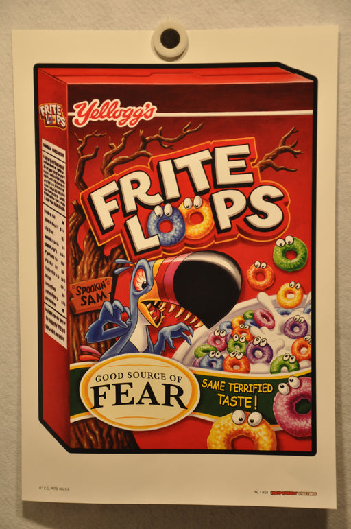 "2012 Wacky Packages Series 1 Poster Singles 12"" x 18"" Non Folded Topps (24 Choic #1 Frite Loops  - TvMovieCards.com"