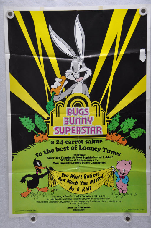1975 Bugs Bunny Superstar Original 1SH Movie Poster Daffy Duck Porky Pig   - TvMovieCards.com