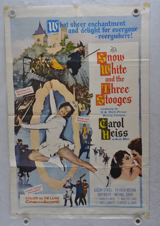 Original 1961 Snow White and the Three Stooges Movie Poster 27 x 41 Moe Howard,   - TvMovieCards.com