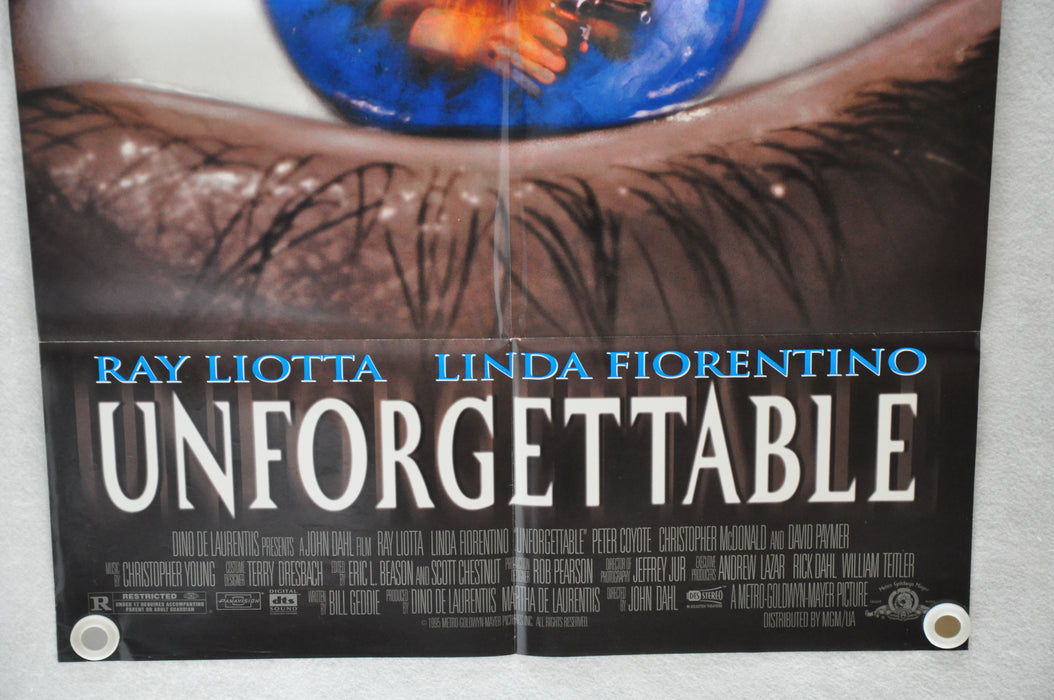 1996 Unforgettable 1SH D/S Movie Poster 27 x 41 Ray Liotta, Linda Fiorentino, Pe   - TvMovieCards.com
