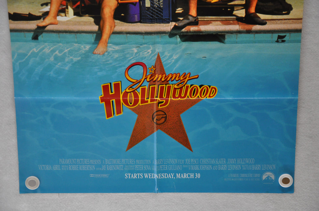 1994 Jimmy Hollywood 1SH D/S Movie Poster 27 x 41 Joe Pesci, Christian Slater   - TvMovieCards.com