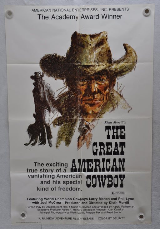 Original 1974 The Great American Cowboy Movie Poster 27 x 41 Larry Mahan   - TvMovieCards.com