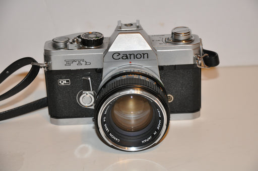 Canon FTb QL 35mm SLR Film Camera With FD 50mm f1:1.4 Lens   - TvMovieCards.com