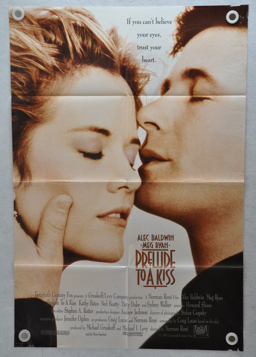 1992 Prelude to a Kiss 1SH D/S Movie Poster 27 x 41 Meg Ryan Alec Baldwin   - TvMovieCards.com