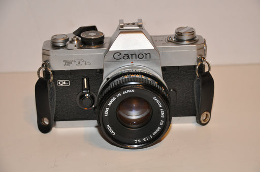 Canon FTb QL 35mm SLR Film Camera With FD 50mm f1:1.8 Lens   - TvMovieCards.com