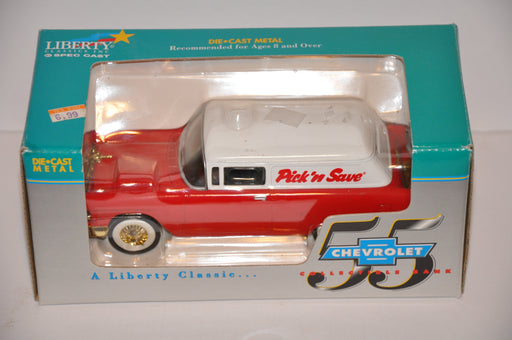 Liberty Classics Diecast Vintage Coin Bank 1955 Chevrolet Pick 'N Save #2574   - TvMovieCards.com