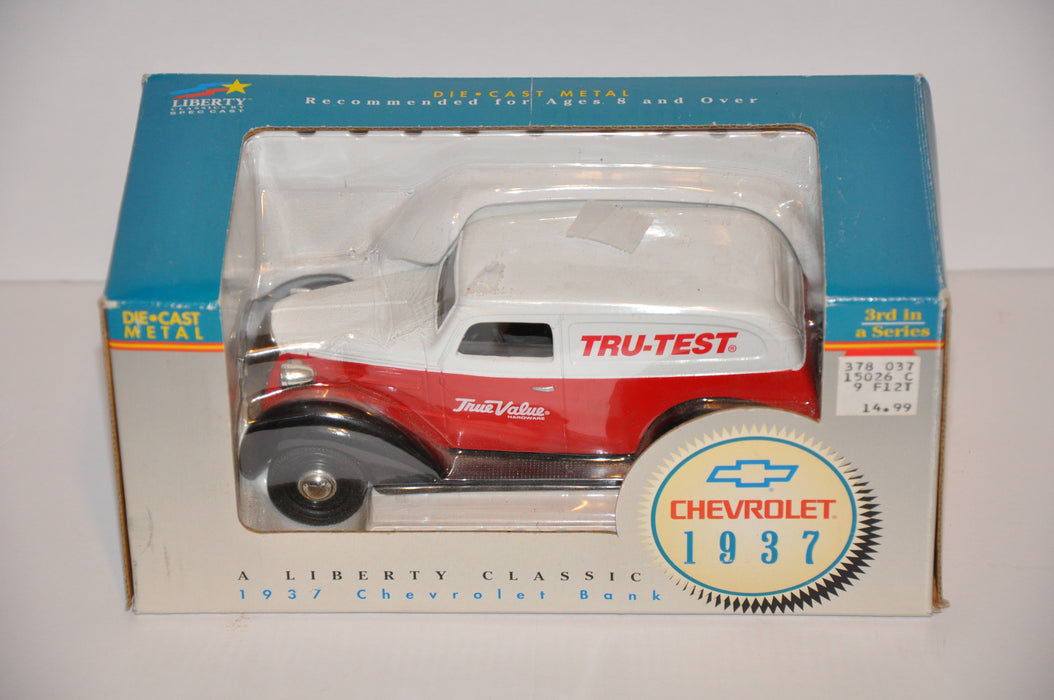 Liberty Classics Diecast Vintage Coin Bank 1937 Chevrolet True Value #15026   - TvMovieCards.com