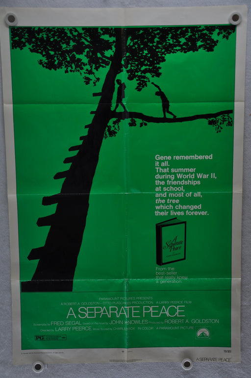 Original 1972 A Separate Peace Movie Poster 27 x 41 John Heyl, Parker Stevenson   - TvMovieCards.com