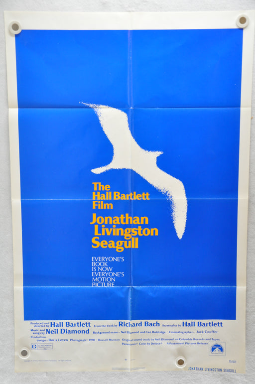 Original 1973 Jonathan Livingston Seagull Movie Poster 27 x 41 James Franciscus, Juliet Mills, Philip Ahn   - TvMovieCards.com