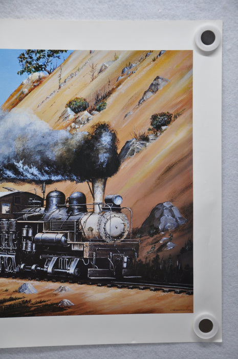 Edward O. Paulson Lyman Timber Co #6 Railroad Locomotive Art Print 17 x 22   - TvMovieCards.com