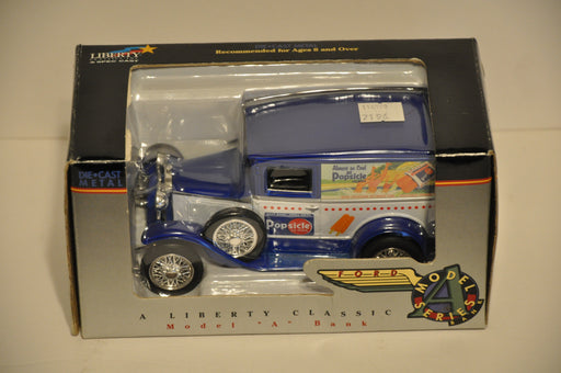 Liberty Classics Diecast Vintage Coin Bank 1930 Model A Blue Popsicle #02660   - TvMovieCards.com