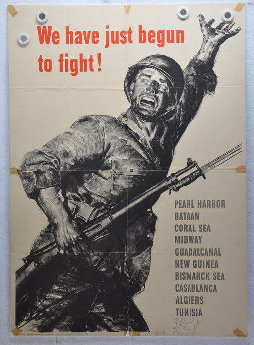 "WWII OWI War Poster #62 ""We have Just Begun to Fight! (28.5 X 40)   - TvMovieCards.com"