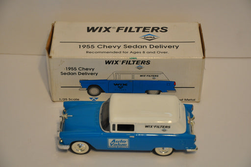 Wix Filters Auto Value 1955 Chevy Sedan Delivery Diecast Coin Bank Blue   - TvMovieCards.com