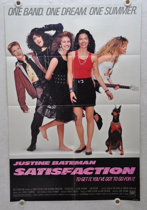1988 Satisfaction Original 1SH Movie Poster 27 x 41 Julia Roberts Liam Neeson   - TvMovieCards.com
