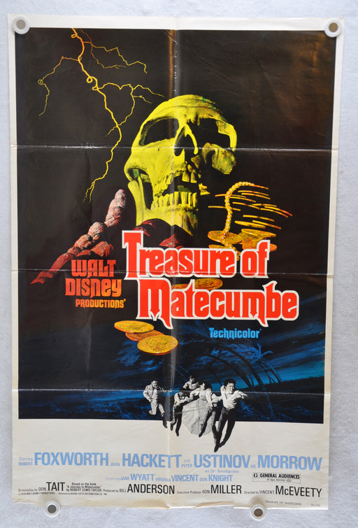 1976 Treasure of Matecumbe Original 1SH Movie Poster Robert Foxworth   - TvMovieCards.com