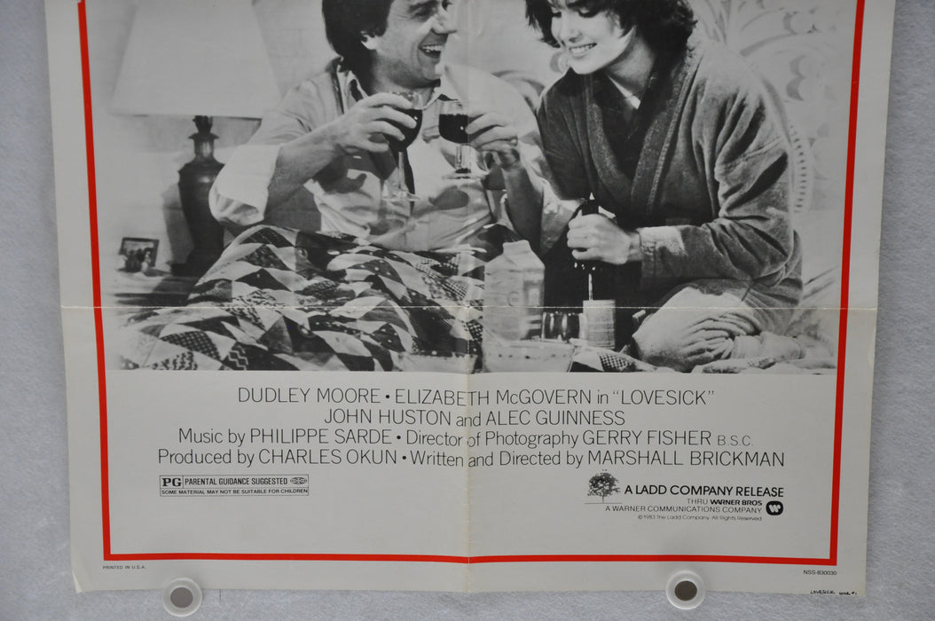 1983 Love Sick Original 1SH Movie Poster 27 x 41 Dudley Moore, Elizabeth McGover   - TvMovieCards.com