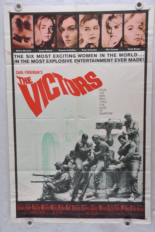 1963 The Victors Original 1SH Movie Poster 27 x 41 Vince Edwards Albert Finney   - TvMovieCards.com
