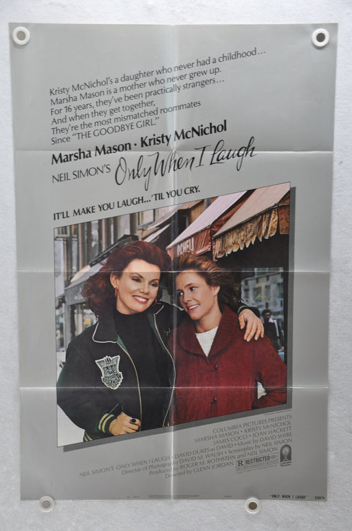 1981 Only When I Laugh Original 1SH Movie Poster 27 x 41 Marsha Mason, Kristy McNichol, Ed Moore   - TvMovieCards.com