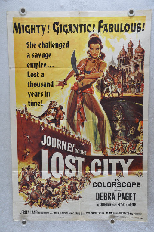 1960 Journey to the Lost City Original 1SH Movie Poster 27 x 41  Debra Paget   - TvMovieCards.com