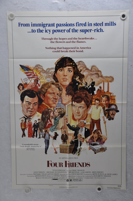 1981 Four Friends Original 1SH Movie Poster 27 x 41 Craig Wasson, Jodi Thelen, Michael Huddleston   - TvMovieCards.com