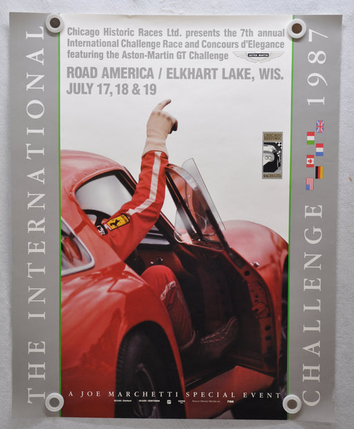 1987 International Challenge Elkhart Lake Road America Ferrari Poster   - TvMovieCards.com