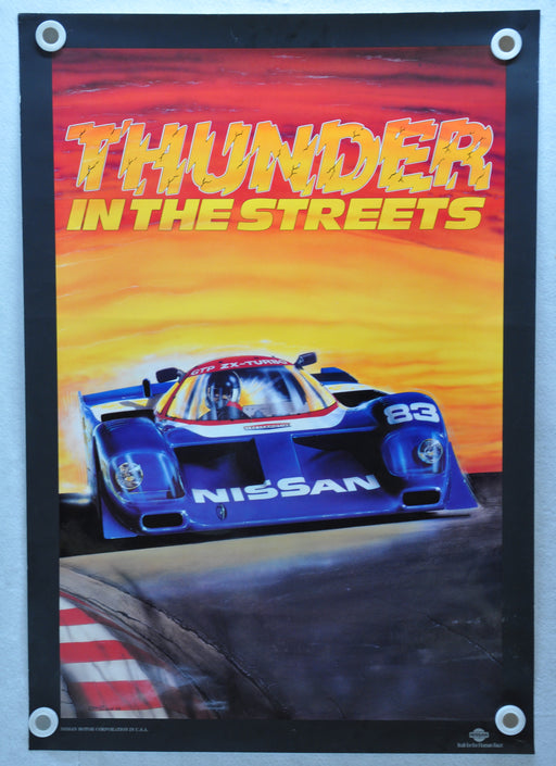 "Nissan GTP ZX-Turbo ""Thunder in the Streets"" Racing Poster   - TvMovieCards.com"