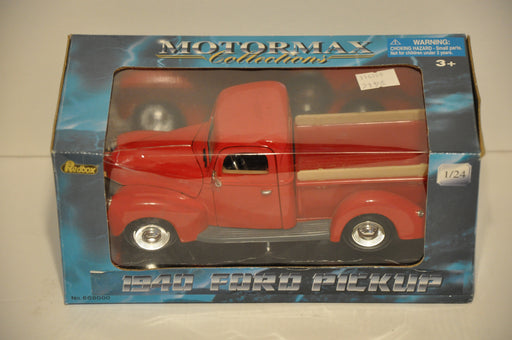 Motor Max Diecast 1/24 Scale 1940 Ford Pickup Truck Red #608000   - TvMovieCards.com