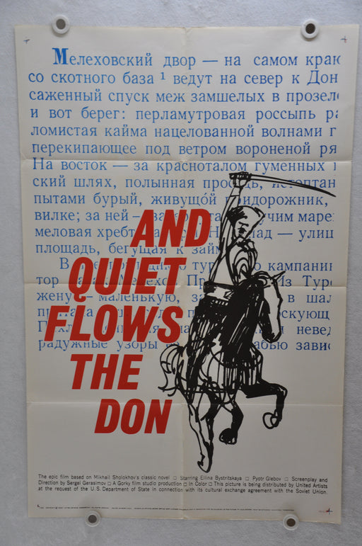 1960 And Quiet Flows The Don Original 1SH 1 Sheet Movie Poster 27 x 41   - TvMovieCards.com