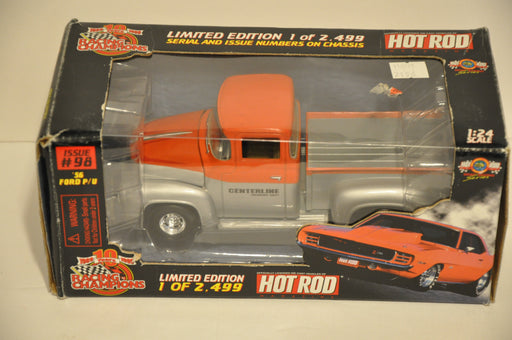 Racing Champions Diecast 1/24 Scale 1956 Ford Pickup Centerline Hot Rod Magazine   - TvMovieCards.com