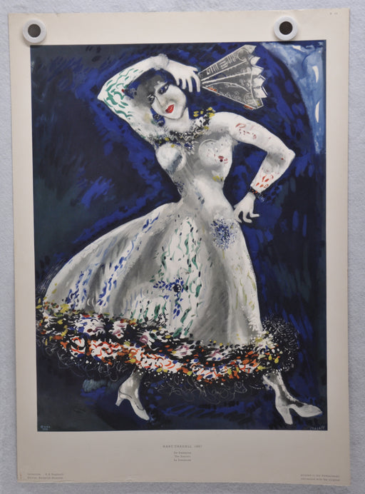 "Marc Chagall ""The Dancer"" 1887 Art Print Poster 19 x 27   - TvMovieCards.com"