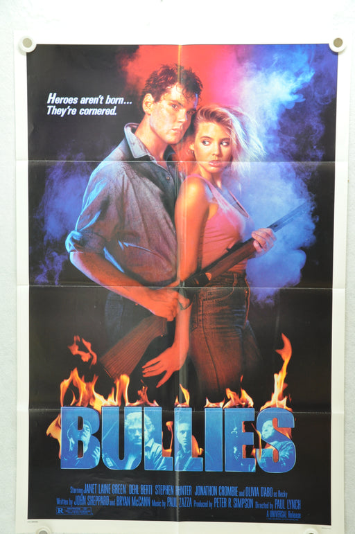 1986 Bullies Original 1SH Movie Poster 27x 41 Jonathan Crombie Janet-Laine Green   - TvMovieCards.com