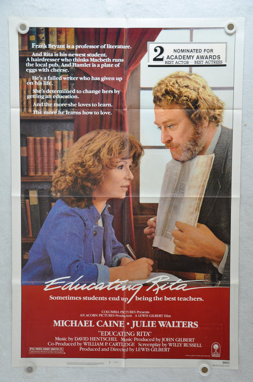 1983 Educating Rita Original 1SH Movie Poster 27x 41 Michael Caine Julie Walters, Michael Williams   - TvMovieCards.com