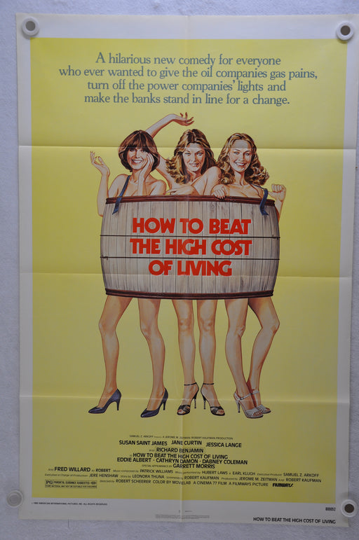 1980 How to Beat the High Cost of Living Original 1SH Movie Poster 27x 41   - TvMovieCards.com