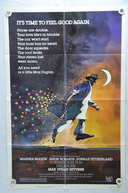 1983 Max Dugan Returns Original 1SH Movie Poster 27 x 41 Jason Robards   - TvMovieCards.com
