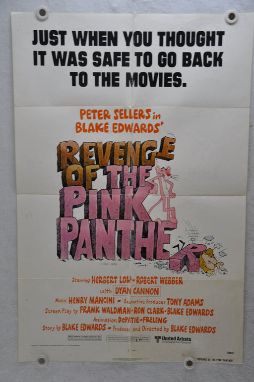 1978 Revenge of the Pink Panther Original 1SH Movie Poster 27 x 41 Peter Sellers   - TvMovieCards.com
