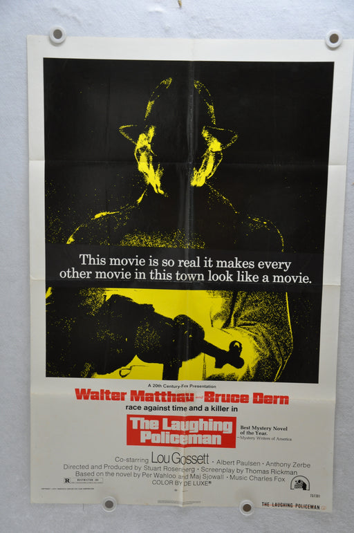 1973 The Laughing Policeman Original 1SH Movie Poster 27 x 41 Walter Matthau   - TvMovieCards.com
