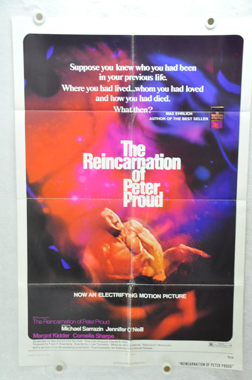 1975 The Reincarnation of Peter Proud Original 1SH Movie Poster 27 x 41 Sarrazin, Jennifer O'Neill, Margot Kidder   - TvMovieCards.com