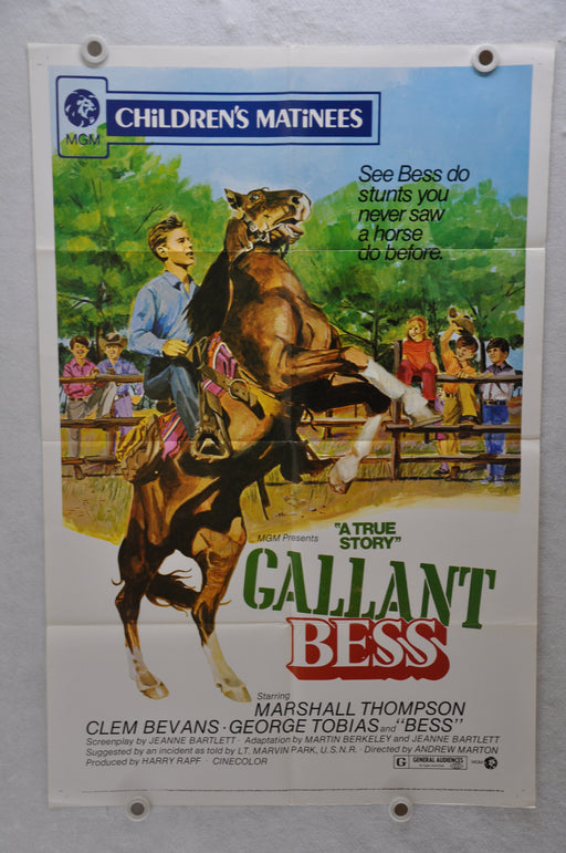 1973 Gallant Bess Original 1SH Movie Poster 27 x 41 Marshall Thompson, George Tobias, Clem Bevans   - TvMovieCards.com
