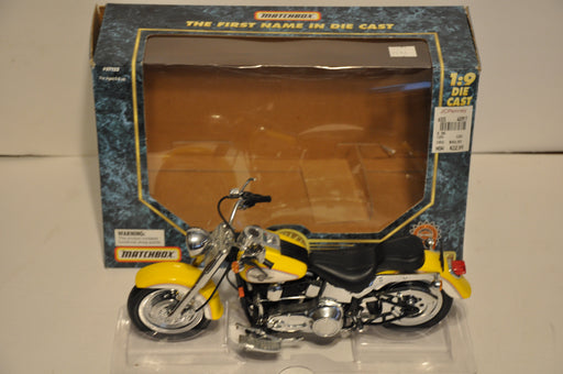 Matchbox 1/9 Scale Diecast 1995 Harley Davidson Fat Boy Yellow   - TvMovieCards.com