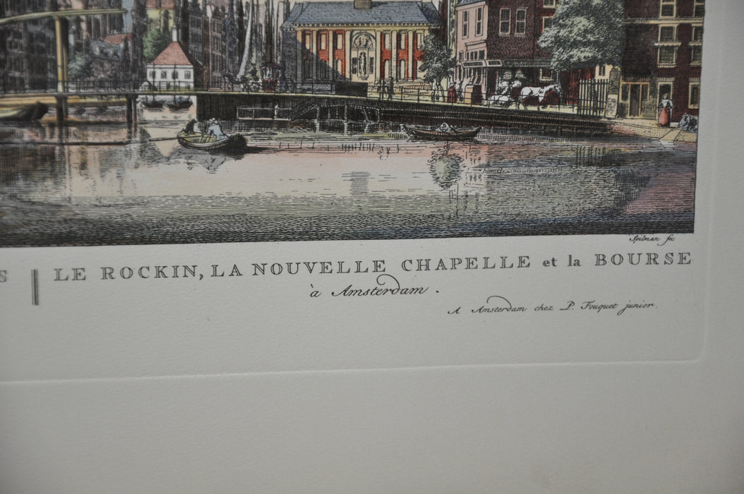 "P. Fouquet Junior Amsterdam Netherlands Lithograph Engraving Print 16"" x 21""   - TvMovieCards.com"