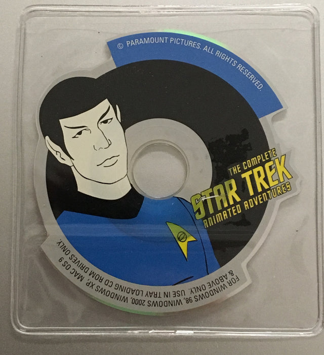 Star Trek TOS Complete Animated Adventures Mini CD Rom Spock Leonard Nimoy   - TvMovieCards.com