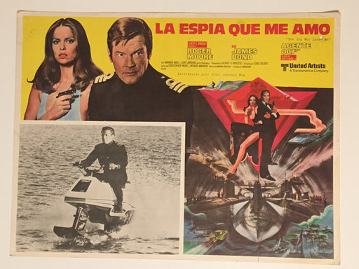 1977 James Bond The Spy Who Loved Me Lobby Card Movie Mexico Roger Moore #4   - TvMovieCards.com