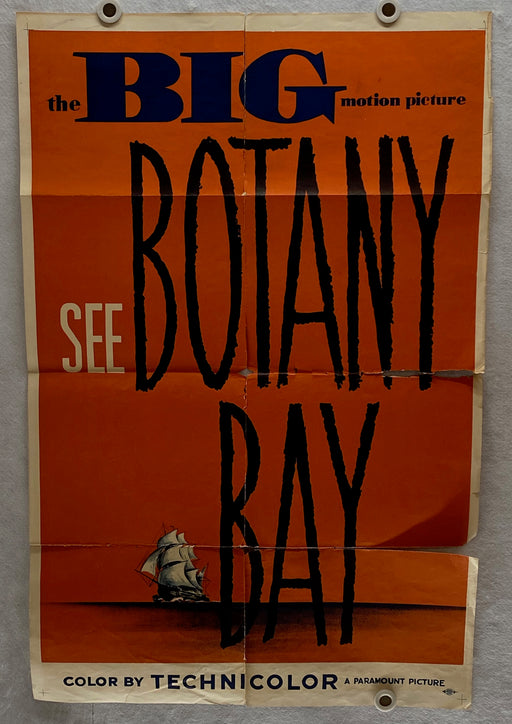 1953 Botany Bay Original 1SH Movie Poster 27 x 41 Alan Ladd, James Mason   - TvMovieCards.com