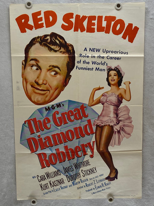 1953 Great Diamond Robbery Original 1SH Movie Poster 27 x 41 Red Skelton   - TvMovieCards.com