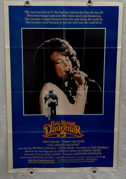 1980 Coal Miner's Daughter Original 1SH Movie Poster 27 x 41 Sissy Spacek   - TvMovieCards.com