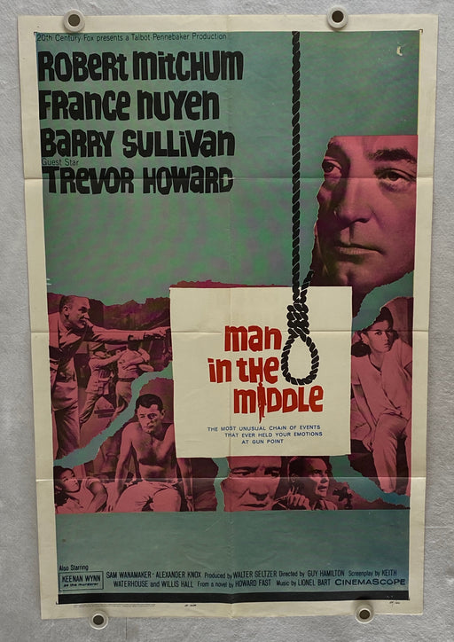 1964 The Man in the Middle  Original 1SH Movie Poster 27 x 41 Robert Mitchum   - TvMovieCards.com