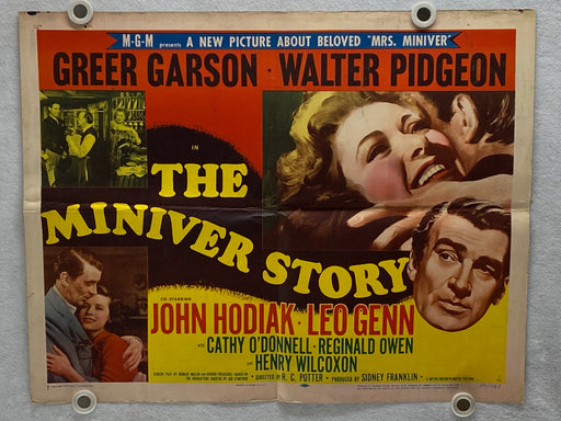 The Miniver Story 1950 Original Half Sheet Movie Poster 22 x 28 Greer Garson   - TvMovieCards.com