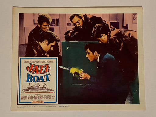 1960 Jazz Boat Lobby Card 11 x 14 Anthony Newley, Anne Aubrey, Lionel Jeffries   - TvMovieCards.com
